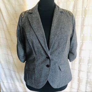 Torrid Women's Grey Embellished Blazer, Size 2X